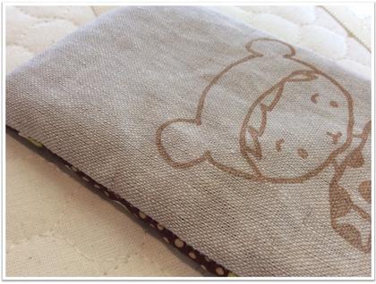 Lavender eye pillow & card - Brown Bear