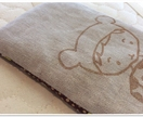 Lavender eye pillow & card - Brown Bear