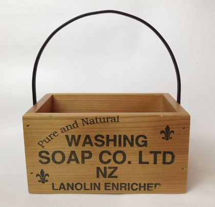 Rectangle carry box with retro Washing Soap design, Kauri