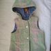 Green Reversible Wool Dino Print Vest 1-2 years