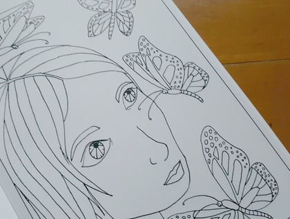 Adult Colouring Book - Lucy's Colouring Book