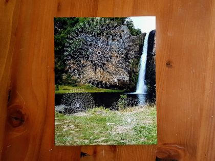 SALE: New Zealand Nature Mandala Photograph Print - Mandala Trio / Hunua Falls