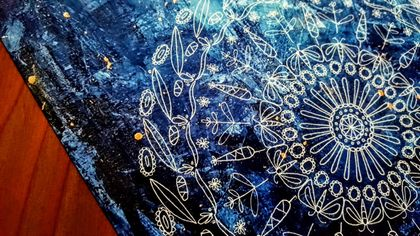 SALE: Abstract Painting Nature Mandala Photograph Print - Moths' Garden / The Stars Burn Bright For Me