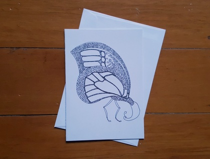 SALE: Colour Your Own Card - Butterfly Design