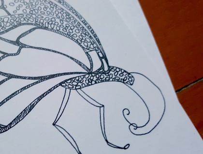 Colour Your Own Card - Butterfly Design