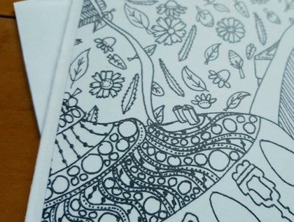 Colour Your Own Card - Tea Design