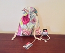 French Drawstring Bag with Bracelet