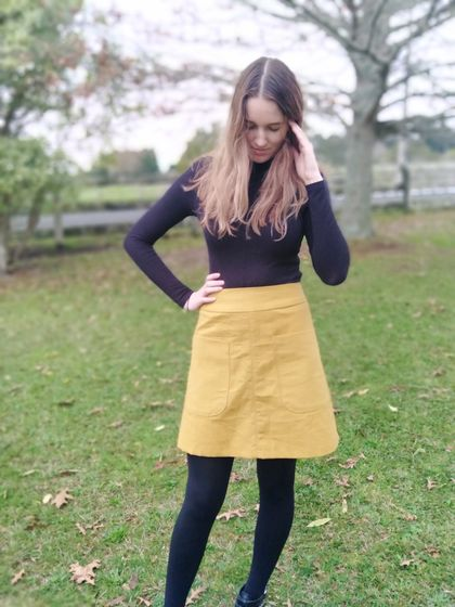 A-Line Skirt With A Band Mini