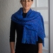 Iconic Sue Bateup Handwoven Scarf - electric blue