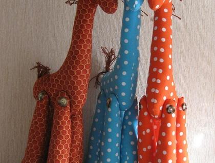 Cute colorful Giraffes