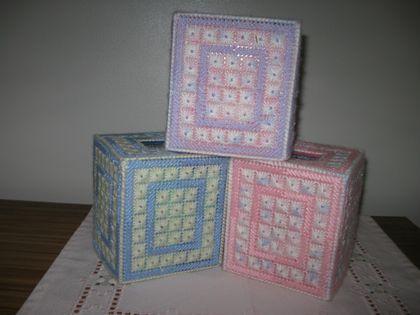 beaded tissue box holder felt