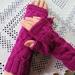 Pink Pure wool Handknitted Fingerless gloves