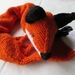 Gorgeous handknitted wool fox stole
