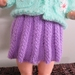 "Knitted dolls skirt for a 15-18"" doll"