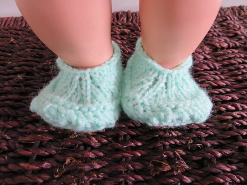 """Knitted dolls shoes for a 15-18"""" doll"""