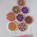 Hand beaded xmas decorations set of 8