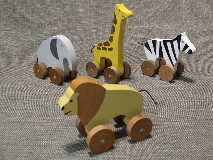 Safari Animal 4 Piece Set