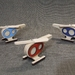 Wooden Helicopters 3pc set