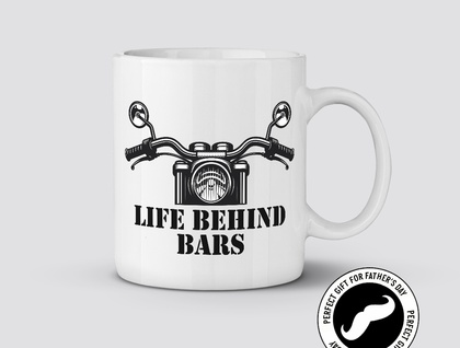 Life Behind Bars 11oz Coffee / Tea Mug Great Gift for Father's Day for the Motorbike Rider