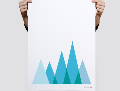 The Mountains Scandinavian Style Minimal Print, Wall Print 11x14 or A3 Print