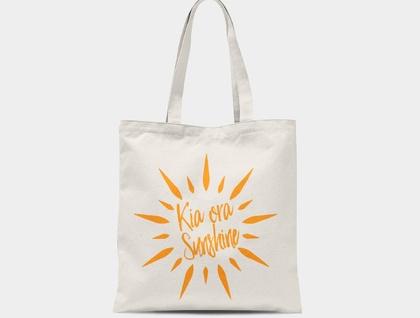 Kia Ora Sunshine Canvas Tote Bag