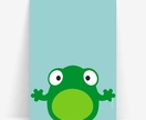 Frog minimal 8x10 or A4 art print