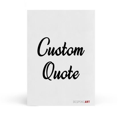 Personalised A4 Quote - 8x10 or A4 Print