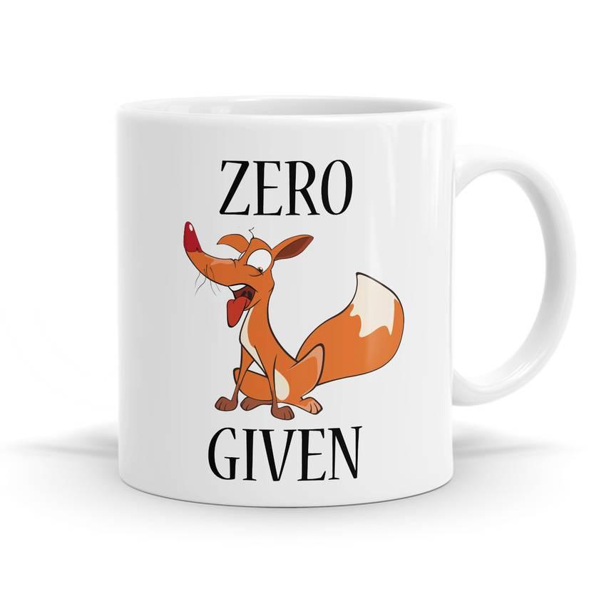 Zero Fox Given 11oz Coffee / Tea Mug - Funny Gift Mug