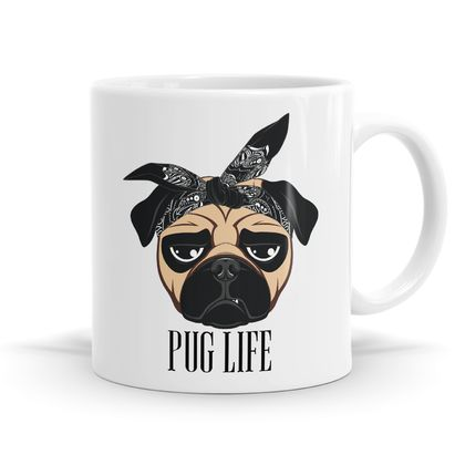 Pug Life Mug - 11oz Coffee / Tea Mug