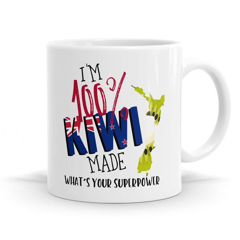 I Am 100% Kiwi 11oz coffee / Tea Mug
