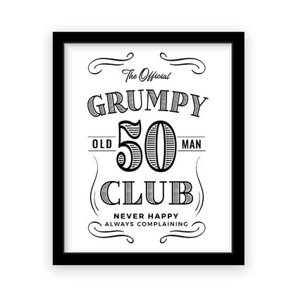 Personalised A3 Grumpy Old Man Birthday Print