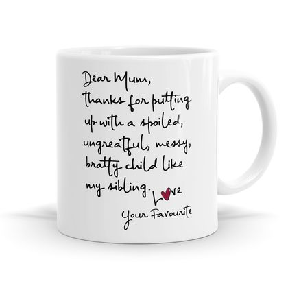 Dear Mum 11oz Coffee or Tea Mug