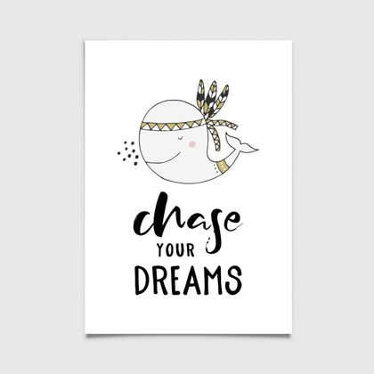 Chase Your Dreams 8x10 or A4 print Scandinavian, Nordic
