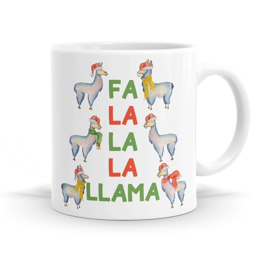 Fa La La La Llama Christmas Mug - 11oz Coffee or Tea Mug