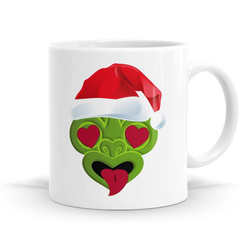 Tiki Loves Christmas Mug - 11oz Coffee or Tea Mug