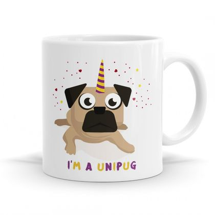 Unipug Pug Mug -11oz Coffee / Tea Mug