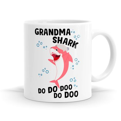Shark Family - Listing B - 11oz Coffee / Tea Mug / Soup / Hot Chocolate