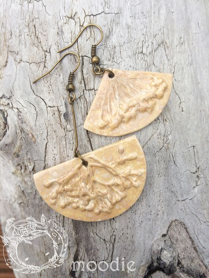 Mismatched branch earrings