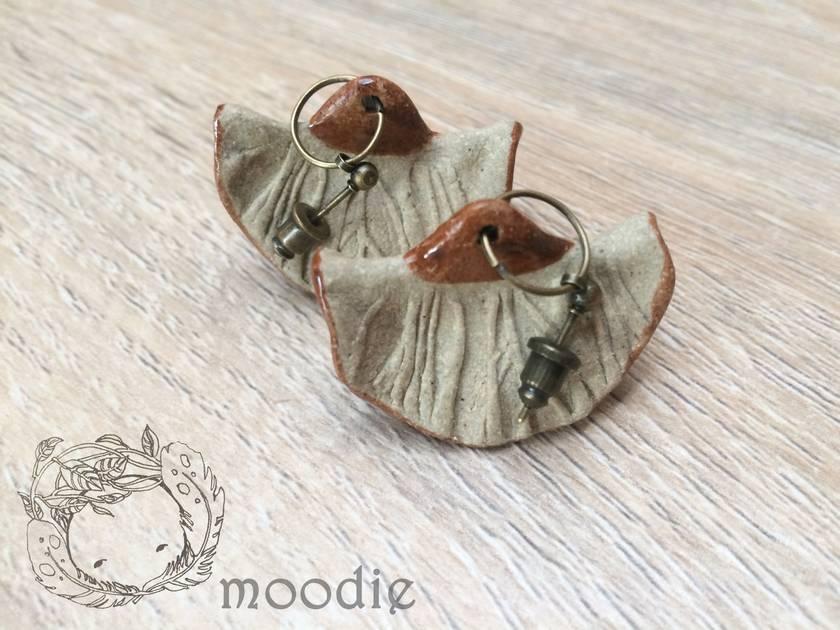 Lotus leaf earrings