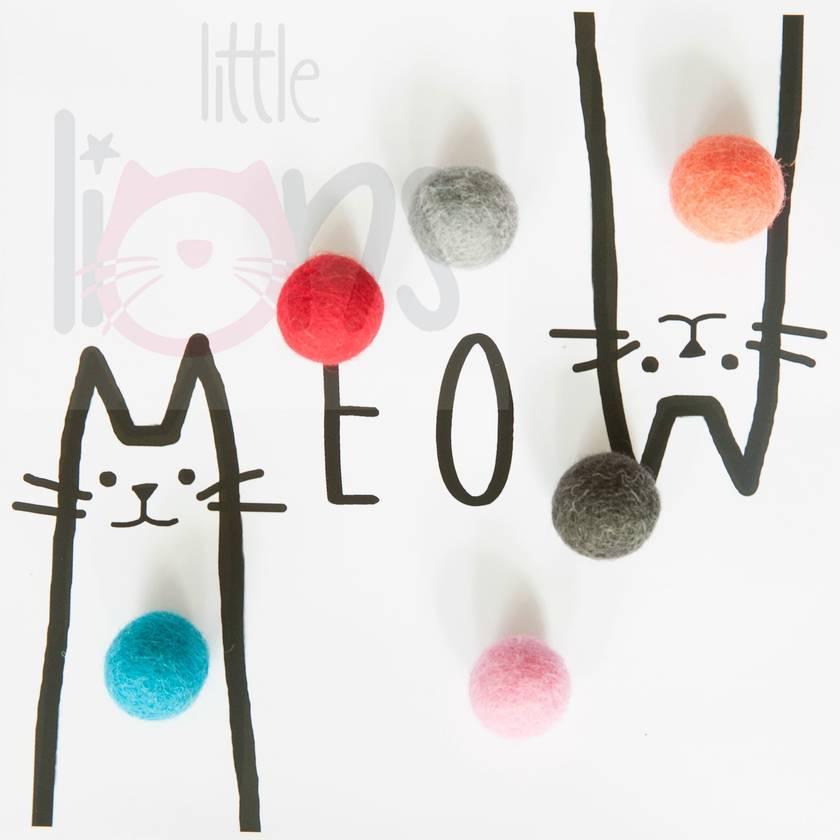 Catnip scented Felt Balls
