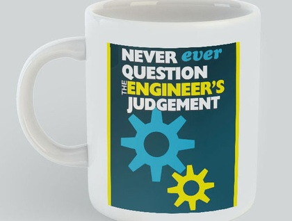 Never Question Engineer Mug, gift for him, gift for her