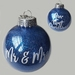 Personalised Our First Christmas Glitter Ornament