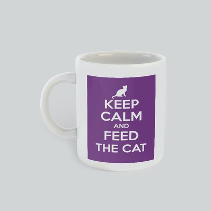 Keep Calm and Feed the Cat Mug for cat lovers