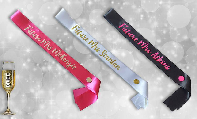 Personalised Hen Party Sash