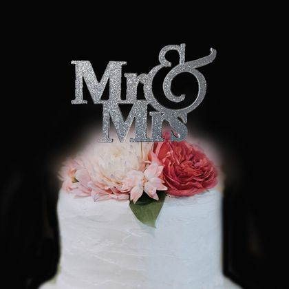 Mr & Mrs  Wedding Cake Topper Personalised