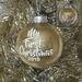 Personalised My First Christmas Glitter Ornament