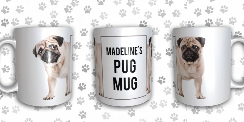 Pug Mug Personalised Mug