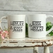 Custom Personalised Matching Wedding Mugs-Hayley Design