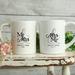 Custom Personalised Matching Wedding Mugs-Anna Design