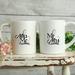 Custom Personalised Matching Wedding Mugs-Fleming Design